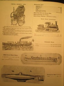 Toy Page in 1902 Army and Navy Stores Catalogue